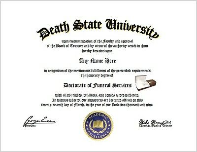 Funeral Services Diploma - Mortician Funeral Director Lover Unique Fun Gift