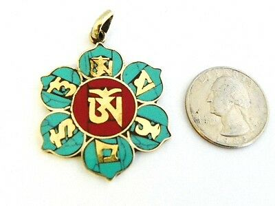 T195 Gorgeous Hand Crafted Tibetan 'om' Pendent  Made In Nepal