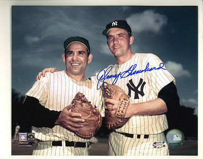 Johnny Blanchard with COA Autographed Signed 8 X 10 Photo Yankees