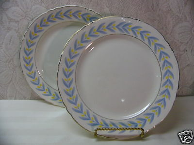 W S GEORGE CHINA*APOLLO*2 LUNCHEON PLATES