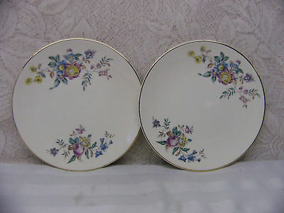 KNOWLES CHINA*KNO923 WINSLOW FLORAL,COUPE*2 BREAD PLATE