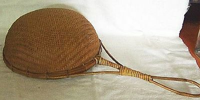 """BASKET LADLE HANDLE HAND CRAFTED WEAVING BASKETRY ARTS CRAFTS 17 3/4"""" Free Sh #2"""
