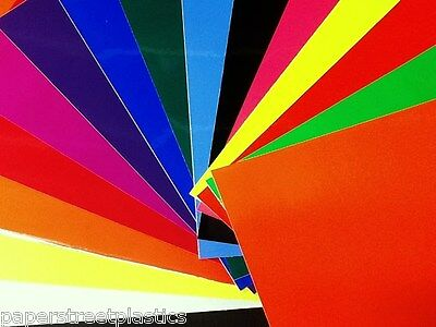 Assortment of 15 Different Colors, Solid Gloss Vinyl with adhesive, 8x12 inch