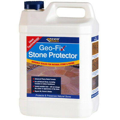 Everbuild Geo-fix Natural Stone Protector and Paving Sealer - 5 Litre Geofix