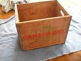 Vintage Canada Dry Wood Crate Carrier Caddy
