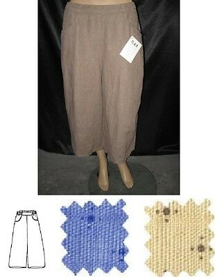 17c69c18fff NEW FLAX BOLD GENEROUS PLUS SIZE LINEN CROPPED PULL UP PANTS pic sz   color