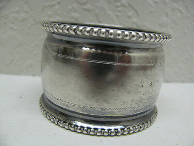 Stunning Antique Engraved Dutch Vintage Silver Napkin Ring Great Condition