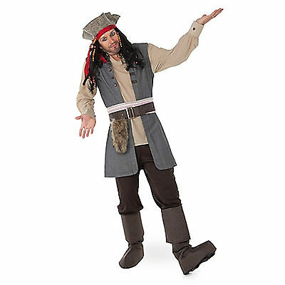 DISNEY STORE JACK SPARROW Costume MEN Size Large NEW PIRATES OF THE CARIBBEAN
