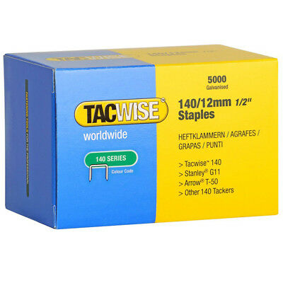 Tacwise 0343 Type 140 Series Staples 12mm - 5000 Pack