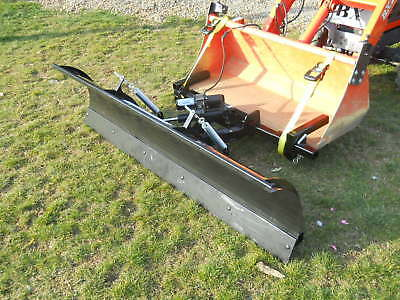 Tractor Snow Plow for Loader Buckets fits: Most Compact Tractors