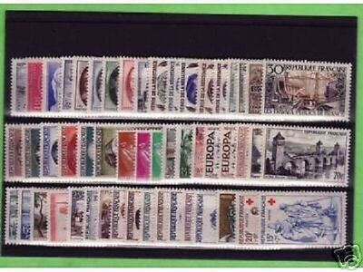 Timbres France Neufs Annee Complete Luxe 1957