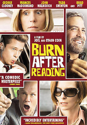 Burn After Reading (Dvd, 2008) New