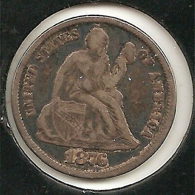 1876-CC (Carson City mint) VF Seated Liberty Dime #1