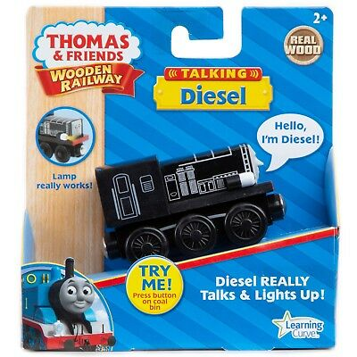 USA TALKING LIGHT DIESEL Thomas Wooden engine Train NEW