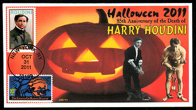Jvc Cachets - 2011 Halloween Event Cover 85Th Anniv Of Harry Houdini's Death #3