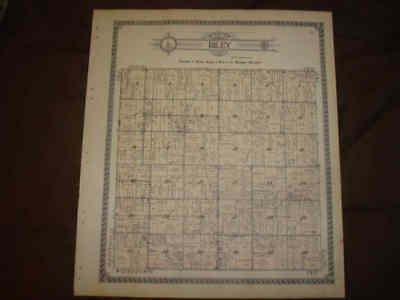Antique Riley Township Clinton County Michigan Handcolored Map Superb Nr