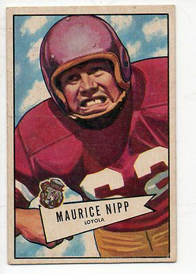 1952 Bowman Small Football Card #107 Maurice Nipp-Philadephia Eagles.