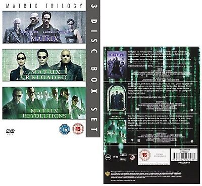 MATRIX TRILOGY 1999-2003, THE COMPLETE  + RELOADED + REVOLUTIONS Rg2 DVD not US