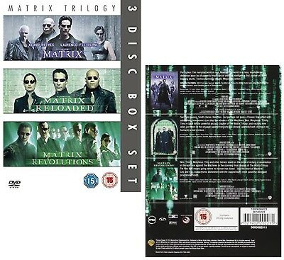 THE COMPLETE MATRIX TRILOGY 1999-2003  + RELOADED + REVOLUTIONS R2 DVD not US