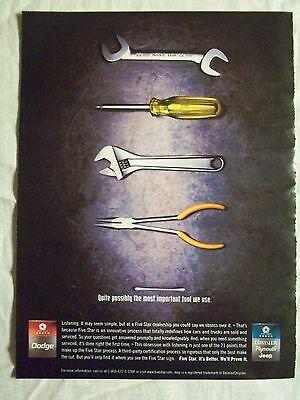 2000 Magazine Advertisement Ad Page For Dodge Chrysler Plymouth Jeep Tools