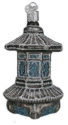 Temple Lantern Old World Christmas Japanese  Lantern Glass Ornament Nwt 36141