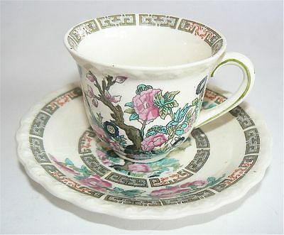 VINTAGE MYOTTS ROYAL CROWN CHINA INDIAN TREE STONEWARE DEMITASSE DEMI CUP SAUCER
