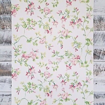 Waverly Fuchsia Feminine Floral Wallpaper Double Roll Bolts FREE SHIPPING