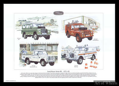 Land Rover Series 3 109 inch Pick-up Hard-top S3 Print