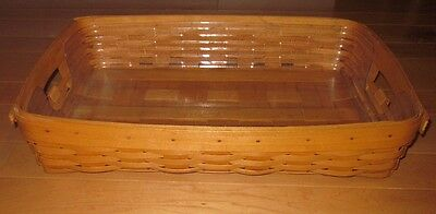 Longaberger Large Rectangle Serving Basket w/ Insert 1998