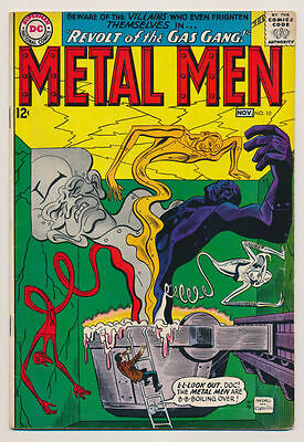 "METAL MEN #10 VG ""Villains Who Frighten Themselves"" Silver Age DC Comics 1964"