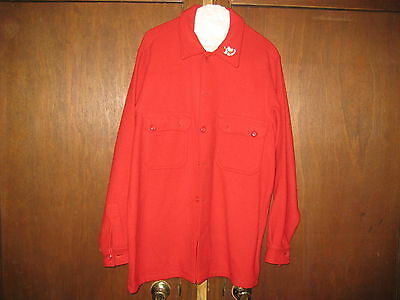 BSA Red Wool Jacket, size 44 with Snoopy Indian Chief pin              BK602