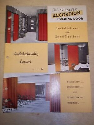 Vtg Straits Products Catalog~Accordian Folding Doors