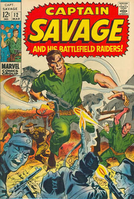 CAPTAIN SAVAGE AND HIS BATTLEFIELD RAIDERS #12 Very Good, Marvel 1969