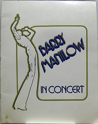 BARRY MANILOW In Concert 1978 US Tour Program ORG