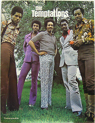 TEMPTATIONS 1974 US Tour Concert Program MOTOWN