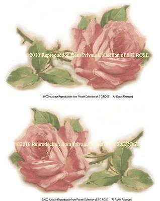 HUGE Vintage PINK ROSE Art Prints CRAFTS DECOUPAGE, Your choice of paper