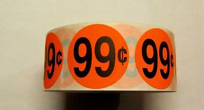 "1000 ANY PRICE SHOWN PRICING POINT RETAIL LABEL STICKER 1 1/2"" Circle"