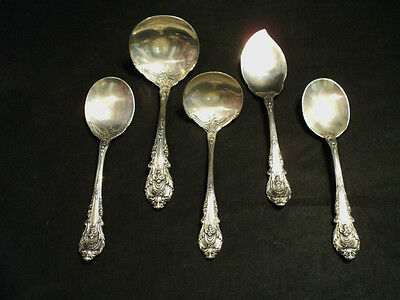 """Group Of 5 Wallace """"Sir Christopher"""" Sterling Silver Serving Pieces"""