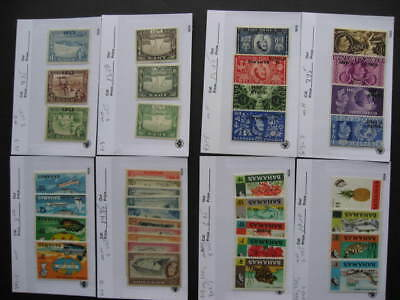 British Commonwealth interesting stamps assembled in sales cards Part 1 of 2