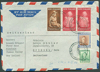 NEW ZEALAND TO SWITZERLAND Old Front Cover VF