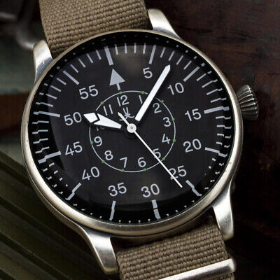 BIG MILITARY AVIATION Fliegeruhr B-Uhr Beobachtungsuhr Luftwaffe 42mm Pilotenuhr