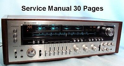 Kenwood  Model  Eleven  G   (Kr-11000G)  Service Manual 30 Pages Free Shipping
