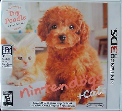 NEW Nintendogs + cats Toy Poodle 3DS Unopened Cute Game English/French