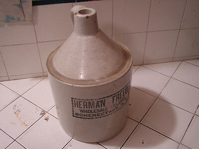 Antique Vintage Herman Freed Pottery Jug Wholesale Liquors New York NY