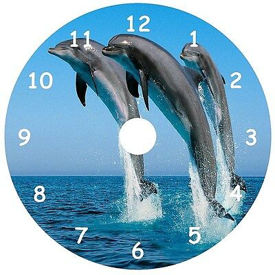 NEW Three Dolphins Jumping CD Clock