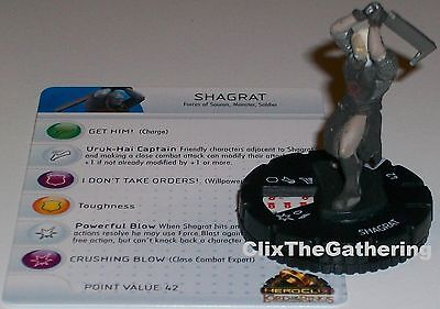 SHAGRAT #008 Lord of the Rings LOTR HeroClix