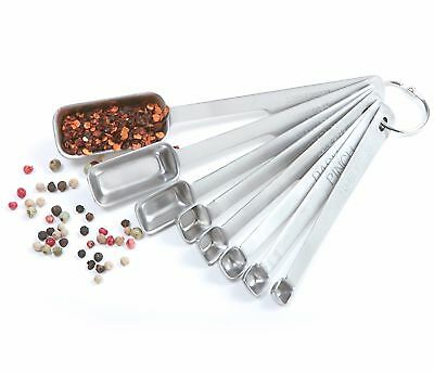 NSF Bakers Narrow Measuring Spoons Set Of 8 Quality 18/10 Stainless Steel Norpro