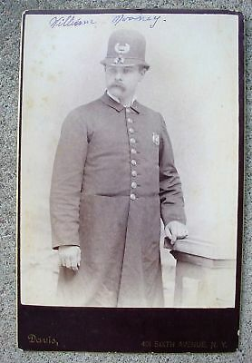 Fine 1890 William Mooney Ny City Police Officer Photo