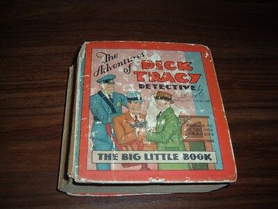 Adventures of Dick Tracy Detective BLB W-707 (scarce)-first Big Little Book