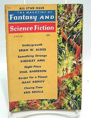 July 1961 FANTASY & SCIENCE FICTION Pulp Digest Magazine-Asimov/Anderson